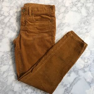 J.Crew 27 Camel Toothpick Ankle Cords